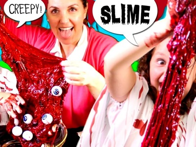 How to make BLOOD SLIME * DIY HALLOWEEN Bloody Slime for KIDS
