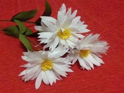 How to Make Daisy Tissue Paper Flowers - Flower Making of Tissue Paper - Paper Flower Tutorial
