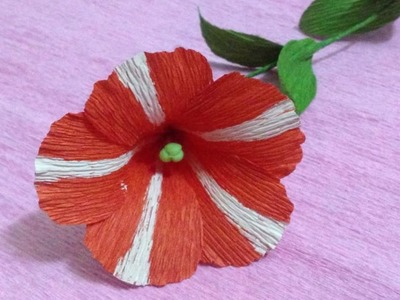 How to Make Petunia Crepe Paper flowers - Flower Making of Crepe Paper - Paper Flower Tutorial