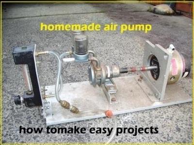 How to make powerful air pump at home - homemade air pump