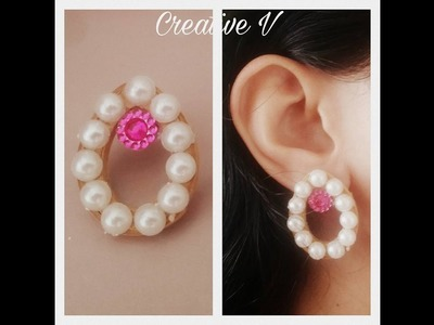 How to Make Quilling Stud Earrings.Design 8.Tutorial
