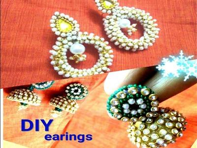 How to make silk thread earings.jumkas. !!