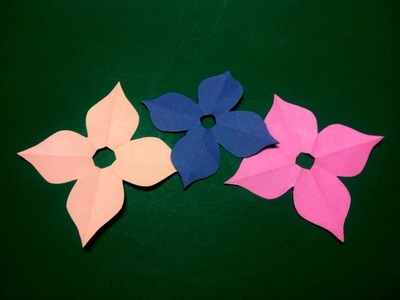 How to make simple & easy paper flower - 4 | Kirigami. Paper Cutting Craft Videos & Tutorials.