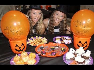 How to throw an AWESOME DIY Halloween Party! | Sam and Teagan