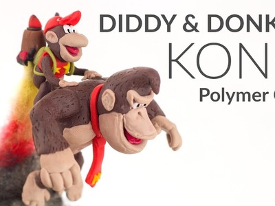Diddy & Donkey Kong – DKC Polymer Clay Tutorial