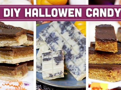 DIY Halloween Candy - Clean & Vegan Recipes! Butterfinger, Twix, Cookies & Cream - Mind Over Munch