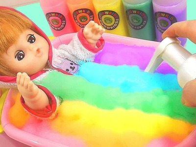 DIY How To Make Colors Bubble Bathtub Baby Doll Toy   nursery rhymes   Skidamarink   children songs