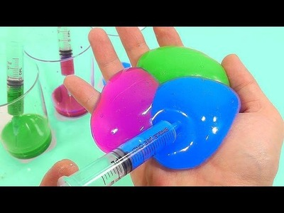 DIY How To Make Colors Paints Syringe Slime Water Balloons Clay Toys | nursery rhymes | kids song