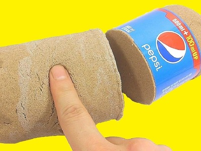 DIY How To Make Pepsi Cola Bottle Kinetic Sand Coke Recipe Toys | Twinkle Twinkle Little Star, BINGO