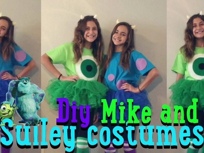 DIY Mike And Sulley Halloween Costumes