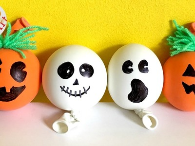 DIY Stress Balls for Halloween - Pumpkin Stress Ball - Ghost DIY - (Sensory toy)