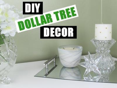 Dollar Store DIY Room Decor | Dollar Tree DIY Mirror Vanity Tray | DIY Mirror Perfume Tray