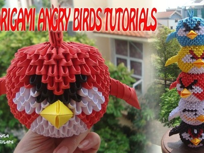 HOW TO MAKE 3D ORIGAMI ANGRY BIRDS FOR BEGINNER | DIY PAPER ANGRY BIRDS TUTORIALS