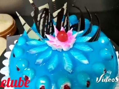 How to make colourful cakes | blue colour gel | frosting | cake decorations garnishing