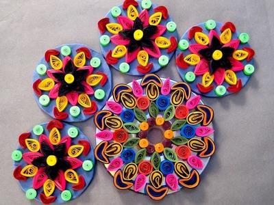 How To Make Rangoli - A Ravishing Rangoli Design By Paper Quilling Craft @ ekunji.com