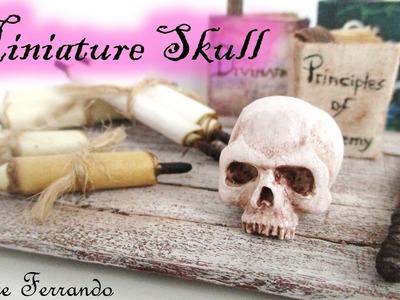 Miniature Polymer Clay Skull Tutorial. Maive Ferrando