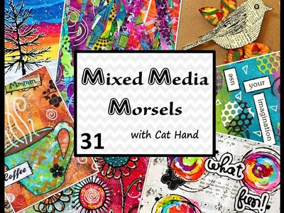 Mixed Media Morsels 31 - Stamped Tissue Paper