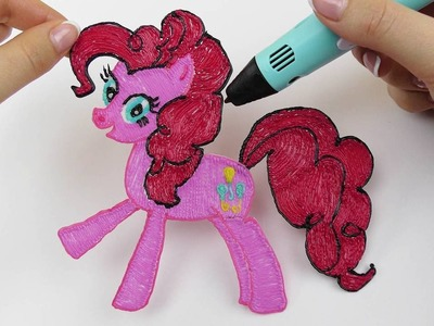 My Little Pony How to Draw Pinkie Pie with 3D PEN! DIY MLP Coloring Video for Kids