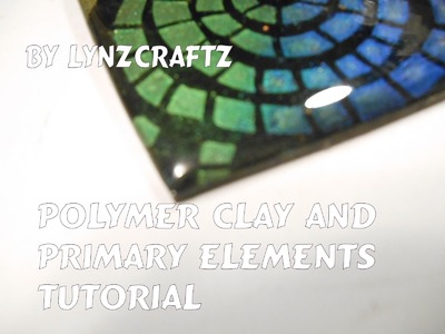 Polymer Clay and Stenciling with Primary Elements. Mica Powders Tutorial