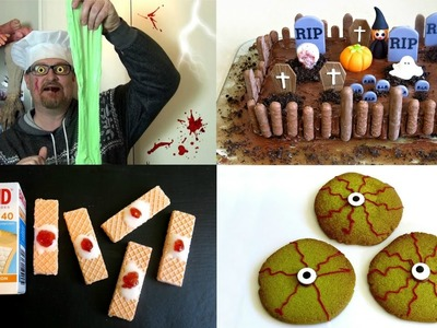 TOP 10 HALLOWEEN DIY RECIPE IDEAS - DRINKABLE BLOOD, WITCHES BREW CAKE, GUMMY GRAVEYARD AND MORE