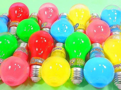 We Wish You A Merry Christmas | DIY Combine Colors Bulb Slime Water Clay Learn Colors Toy Kids Song