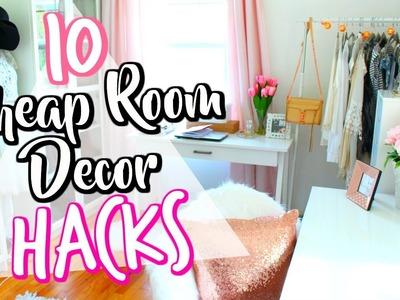 10 Cheap LIFE HACKS to decorate your room! | Belinda Selene