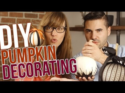 3 DIY PUMPKIN DECORATING IDEAS!