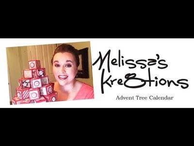 Advent Tree Calendar - Christmas - Decoration - Stampin' Up! - Melissa's Kre8tions