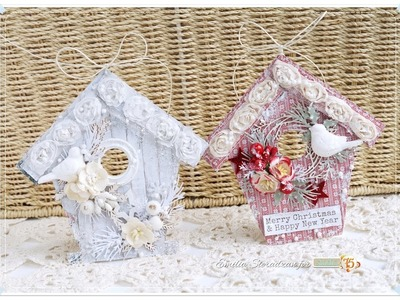 Christmas House Ornaments Tutorial