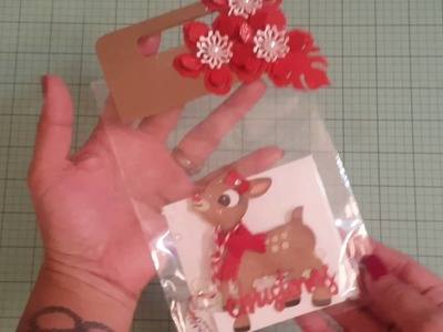 Christmas shaker gift card holder swap with Chandi!!