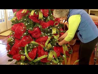 Deco Mesh Christmas Tree Video Tutorial