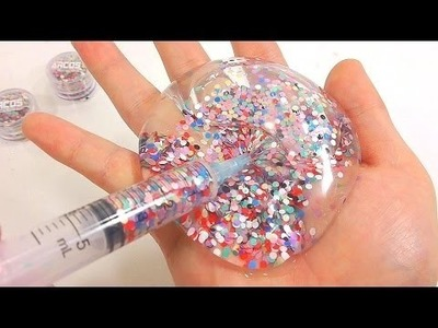 DIY How To Make  Colors Jelly Slime Nail Pearls Water Balloons  Syringe Rea Play Learn Colors Slime