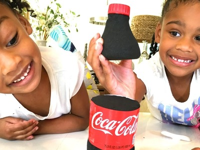 DIY How To Make 'Kinetic Sand Coca Cola' Slime Foam Clay Coke Soda Pop