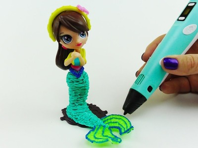 DIY How to Transform Blythe From Littlest Pet Shop Into Mermaid with 3D PEN