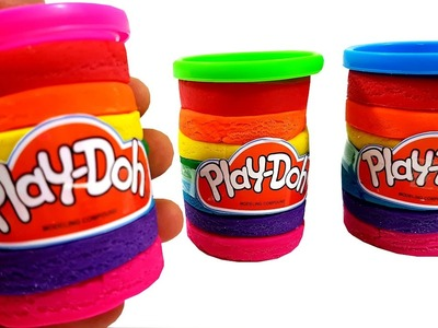 DIY Play Doh Rainbow Tubs Clay Surprise Toys