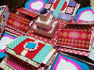 Explosion Box With Fun Fold Cards | The Sucrafts