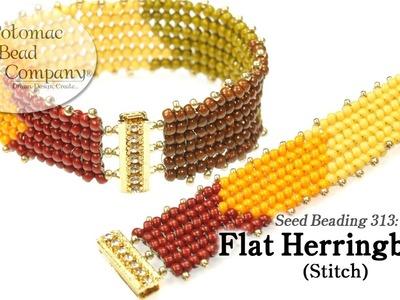 Flat Herringbone Stitch (Tutorial)