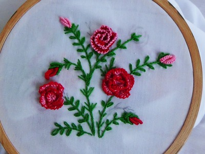 Hand Embroidery: Cast On Knotted Flowers