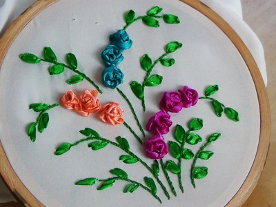 Hand Embroidery: Ribbon Work (Roses)