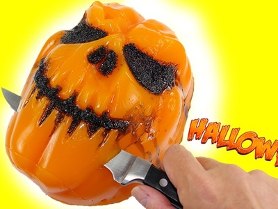 How to Make Halloween pumpkin Mask Gummy Shape Fun & Easy DIY Jello Dessert!