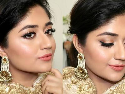 Indian Festive Makeup Tutorial : Golden Peach Makeup   corallista