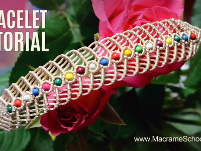 Macramé Herringbone Bracelet Tutorial by Macrame School