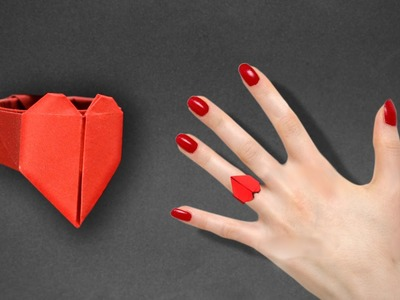 Origami: Heart Ring - Instructions in English ( BR )