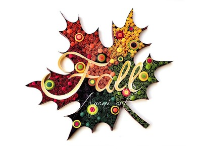 Quilling Fall Leaf Typography Tutorial