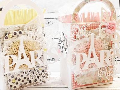 SHABBY PARIS GIFT BOXES | TUTORIAL | PLUS STAMP SET