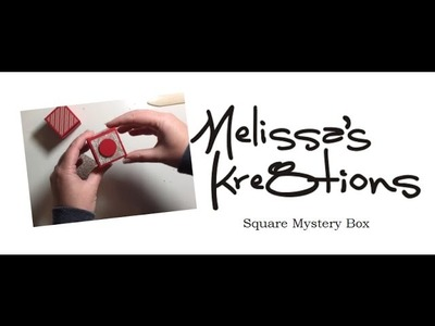 Square Mystery Box - Flat Fold Box - Christmas - Stampin' Up! - Melissa's Kre8tions