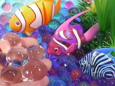 The_Alphabet_Song | DIY Orbeez Slime Gold Kinetic Sand Beach, Robotic Fish Aquarium ToyS