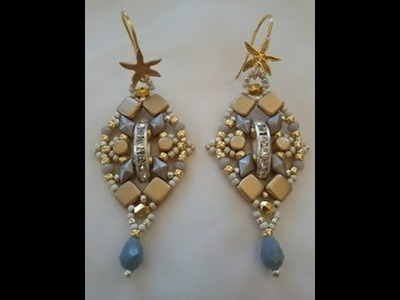 Tutorial orecchini silver and gold. tutorial silver and gold earrings
