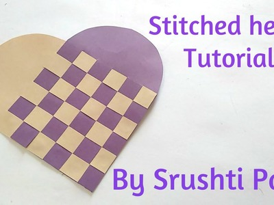 Twisted heart card Tutorial By Srushti patil