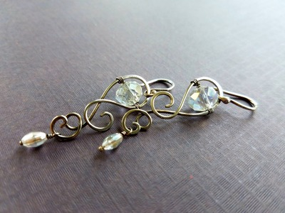 Wire Wrapping Tutorial – Silver Drops Crystal Earrings